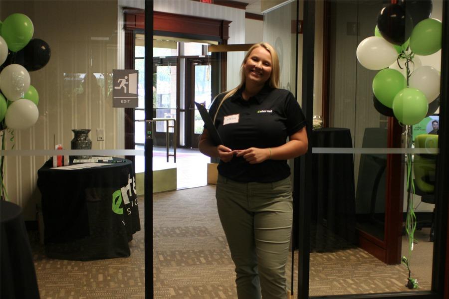 Sara at open house